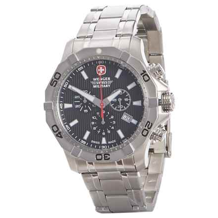 Wenger Swiss Military Aquagraph Chronograph Watch - Stainless Steel (For Men) in Black/Silver - Closeouts