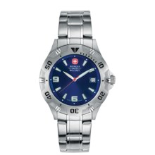 Wenger Swiss Military Brigade Watch - Stainless Steel in Petrol Blue Dial/Silver Braclet - Closeouts