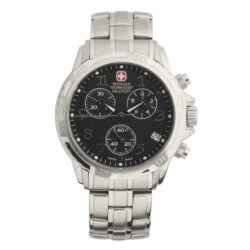 Wenger Swiss Military GST 07 Chrono Watch (For Men) in Black/Stainless Steel