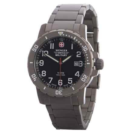Wenger Swiss Military Off Road Titanium Analog Watch (For Men) in Titanium/Black - Closeouts