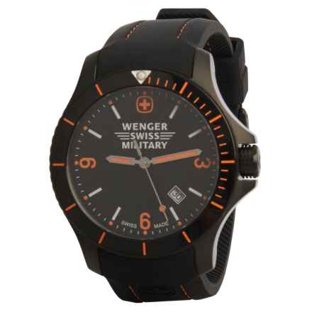 Wenger Swiss Military Sport Battalion Watch (For Men) in Black/Black/Black - Closeouts