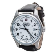 Wenger Swiss Military Terragraph Watch - Nylon Band (For Men) in Silver/Brown Strap - Closeouts
