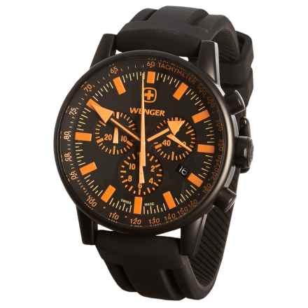 Wenger Swiss Raid Commando Chrono Watch (For Men) in Black/Orange - Closeouts