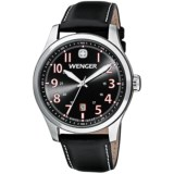 Wenger Terragraph Watch - Leather Strap (For Men)