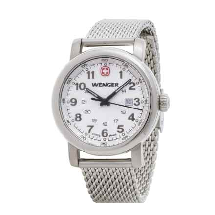 Wenger Urban Classic Analog Watch - 34mm, Steel Mesh Bracelet (For Women) in White/Silver - Closeouts