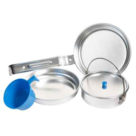 Wenzel Deluxe Mess Kit - 6-Piece in Aluminum - Closeouts