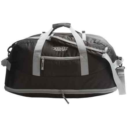 Wenzel Dual Zone 68L Duffel Bag in Black - Closeouts