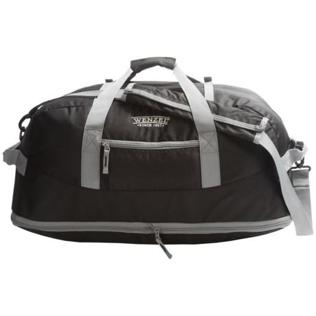 Wenzel Dual Zone 68L Duffel Bag in Black
