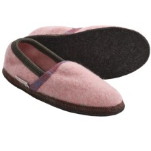 Wesenjak Boiled Wool Moc Slippers (For Men and Women) in Pink - Closeouts