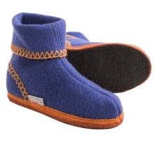 Wesenjak Boot Slippers - Boiled Wool (For Kids and Youth) in Indigo - Closeouts