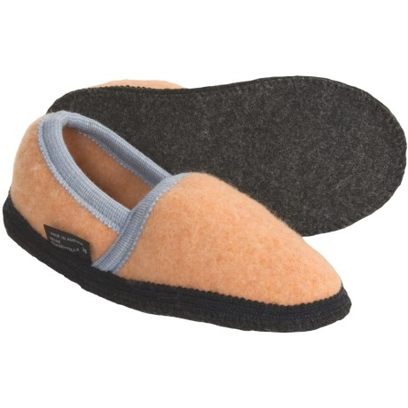 Wesenjak Slipper Moccasins - Boiled Wool (For Kids and Infants) in Apricot