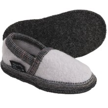 Wesenjak Slipper Moccasins - Boiled Wool (For Kids and Infants) in Cream - Closeouts