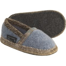 Wesenjak Slipper Moccasins - Boiled Wool (For Kids and Infants) in Grey Heather - Closeouts