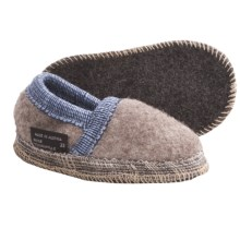Wesenjak Slipper Moccasins - Boiled Wool (For Kids and Infants) in Light Brown Heather - Closeouts