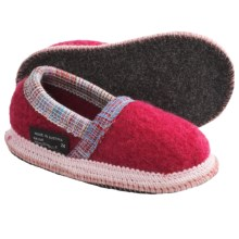 Wesenjak Slipper Moccasins - Boiled Wool (For Kids and Infants) in Raspberry - Closeouts
