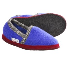 Wesenjak Slipper Moccasins - Boiled Wool (For Men and Women) in Blue - Closeouts