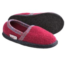 Wesenjak Slipper Moccasins - Boiled Wool (For Men and Women) in Dusty Rose / Light Grey Heather / Grey - Closeouts