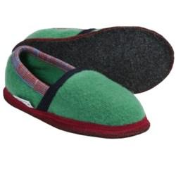 Wesenjak Slipper Moccasins - Boiled Wool (For Men and Women) in Dark Green