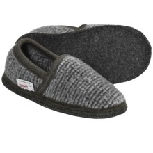 Wesenjak Slipper Moccasins - Boiled Wool (For Men and Women) in Grey Tweed - Closeouts