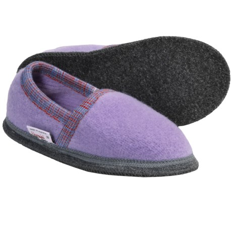 Wesenjak Slipper Moccasins - Boiled Wool (For Men and Women) in Lavender