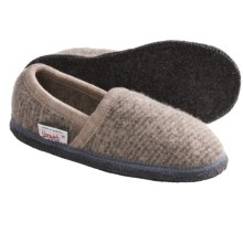 Wesenjak Slipper Moccasins - Boiled Wool (For Men and Women) in Oatmeal / Grey Heather - Closeouts