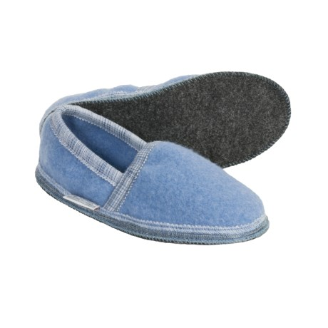 Wesenjak Slipper Moccasins - Boiled Wool (For Men and Women) in Ocean Blue
