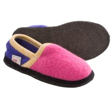 Wesenjak Slipper Moccasins - Boiled Wool (For Men and Women) in Pink/Purple - Closeouts
