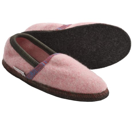 Wesenjak Slipper Moccasins - Boiled Wool (For Men and Women) in Pink