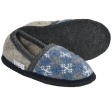 Wesenjak Slipper Moccasins - Boiled Wool (For Men and Women) in Snowflake Print/Tan - Closeouts