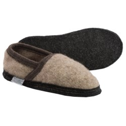 Wesenjak Slipper Moccasins - Boiled Wool (For Men and Women) in Tan Heather