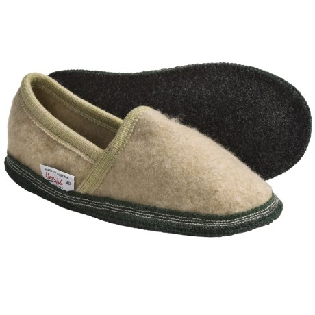 Wesenjak Slipper Moccasins - Boiled Wool (For Men and Women) in Wheat