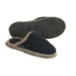 Wesenjak Slipper Slides - Boiled Wool (For Men and Women) in Dark Brown