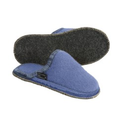 Wesenjak Slipper Slides - Boiled Wool (For Men and Women) in Blue