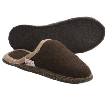 Wesenjak Slipper Slides - Boiled Wool (For Men and Women) in Dark Brown - Closeouts
