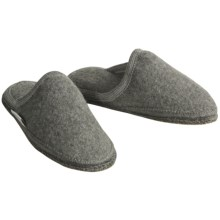 Wesenjak Slipper Slides - Boiled Wool (For Men and Women) in Grey Heather - Closeouts