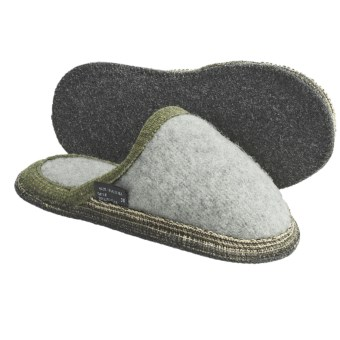 Wesenjak Slipper Slides - Boiled Wool (For Men and Women) in Light Grey Heather