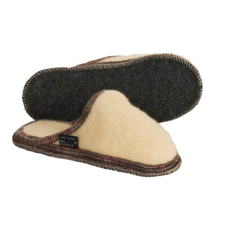 Wesenjak Slipper Slides - Boiled Wool (For Men and Women)