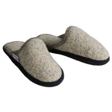 Wesenjak Slipper Slides - Boiled Wool (For Men and Women) in Natural W/Black - Closeouts