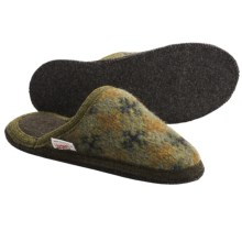 Wesenjak Slipper Slides - Boiled Wool (For Men and Women) in Olive Print - Closeouts