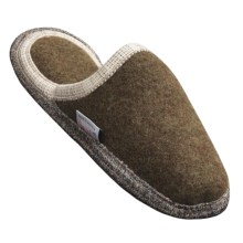 Wesenjak Slipper Slides - Boiled Wool (For Men and Women) in Olive - Closeouts