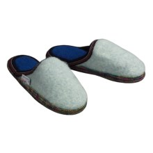 Wesenjak Slipper Slides - Boiled Wool (For Men and Women) in Pale Blue / Multi - Closeouts
