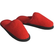 Wesenjak Slipper Slides - Boiled Wool (For Men and Women) in Red - Closeouts