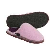 Wesenjak Slipper Slides - Boiled Wool (For Men and Women) in Rose - Closeouts