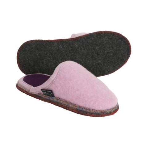 Wesenjak Slipper Slides - Boiled Wool (For Men and Women) in Rose