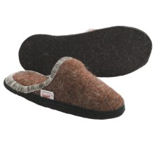 Wesenjak Slipper Slides - Boiled Wool (For Men and Women) in Rust Multi - Closeouts