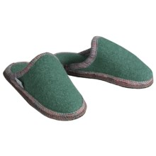 Wesenjak Slipper Slides - Boiled Wool (For Men and Women) in Spruce - Closeouts