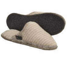 Wesenjak Slipper Slides - Boiled Wool (For Men and Women) in Tan Stripe - Closeouts