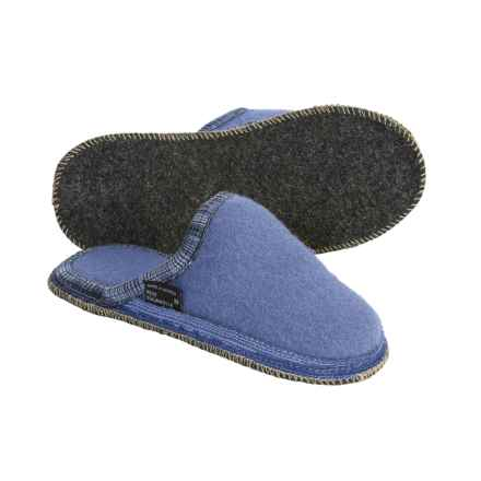 Wesenjak Slipper Slides - Boiled Wool (For Women) in Blue - Closeouts