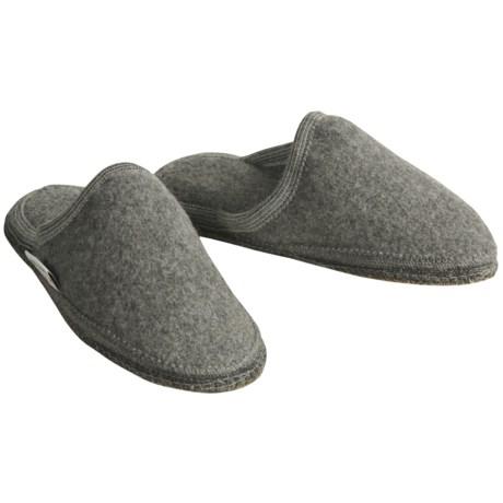 Wesenjak Slipper Slides - Boiled Wool (For Women) in Grey Heather