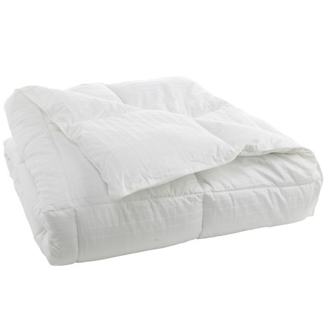 West Pacific New Square Check Comforter - Full-Queen in White